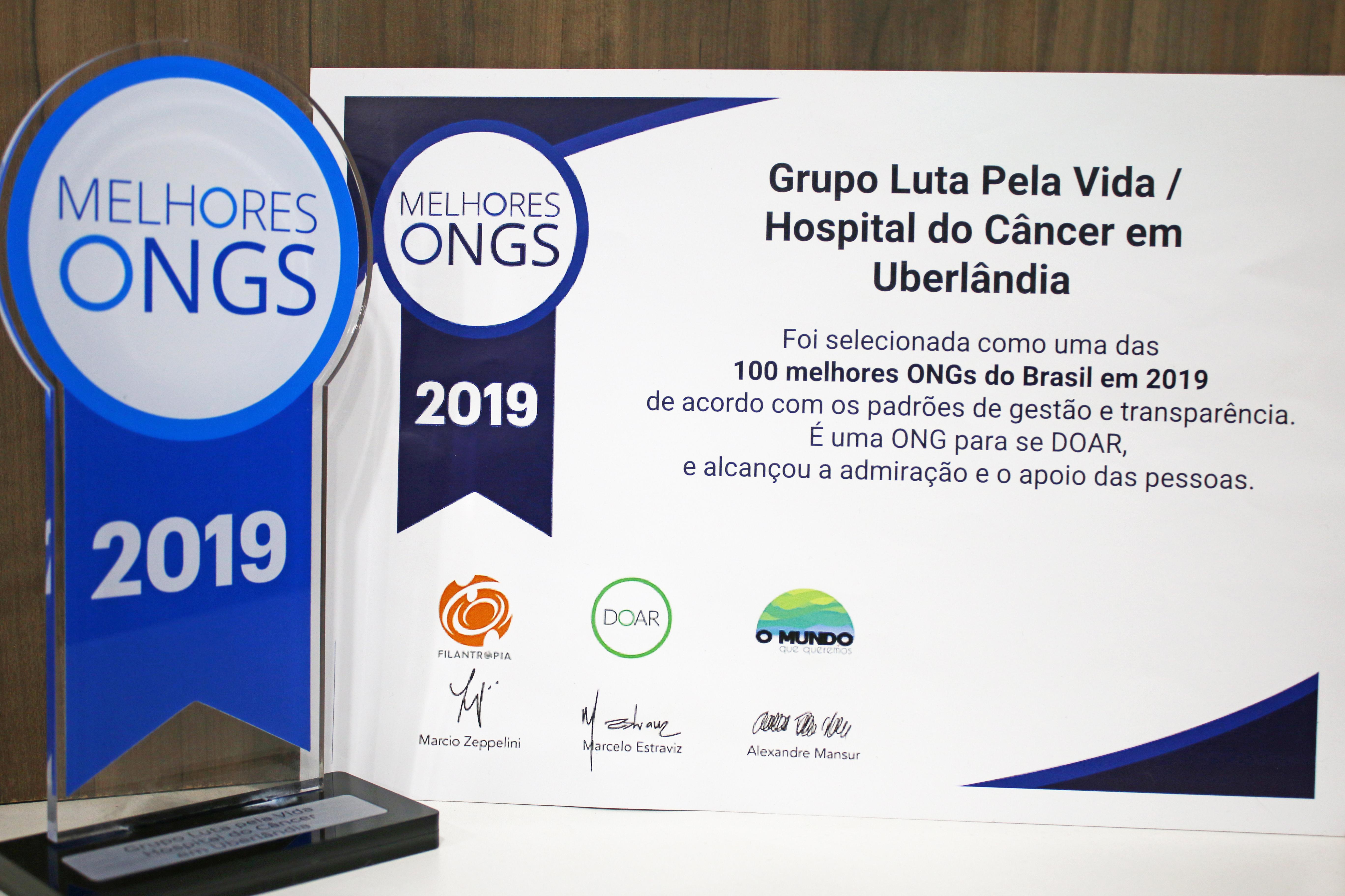 Grupo Luta Pela Vida está novamente entre as 100 melhores ONGs e é o destaque na Saúde
